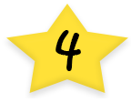 Star With Number Four